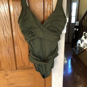 Tommy Bahama Cross Front SwimSuit NEW